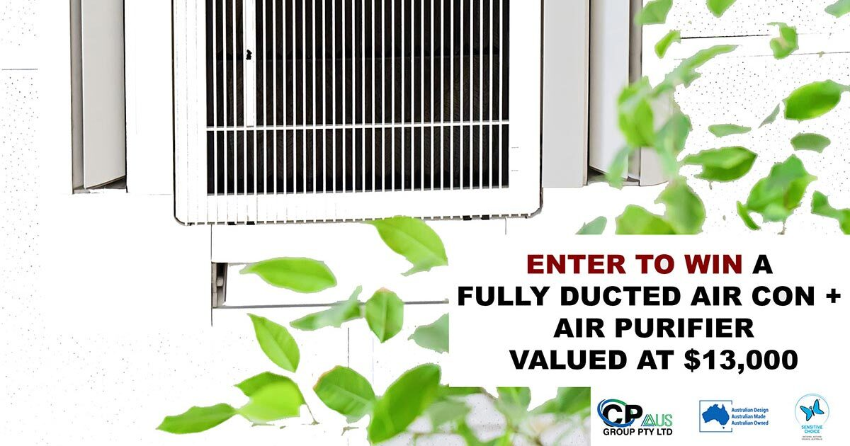 Enter to Win A Fully Ducted Air Conditioning + Air Purification System Valued At $13,000